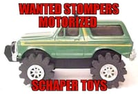 WANTED STOMPERS TOY TRUCKS FROM THE 80's