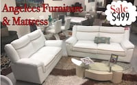 white leather loveseat 33012