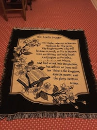 Blanket throw The Lords Prayer like new 897 mi