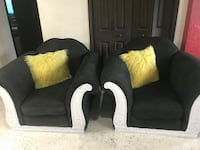Two charcoal gray side chairs fabric Miami Gardens, 33056