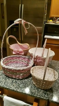 4 wicker baskets