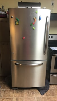 stainless steel bottom-mount refrigerator