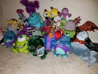 Monsters inc & monsters university plush lot Dundee, 33838