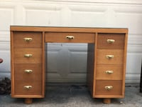 Retro style wood desk River Forest