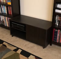 TV stand, espresso finish. Broadlands, 20148