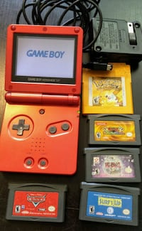 Game Boy set + 5 games! Pokemon, Pixar Cars, more! New Westminster, V3M 3Y3