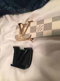 black Louis Vuitton leather belt 3144 km
