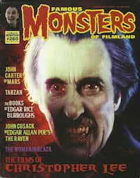 Famous Monsters # 260 CHRISTOPHER LEE  2012 Magazine Famous Monsters of Filmland In excellent condition Pick-up in Newmarket Newmarket
