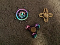 2 Rainbow Fidget Spinner and 1 Gold  Toronto, M6L 3E8