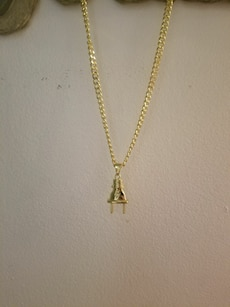 14K Gold Plated Chain with Plug Pendant