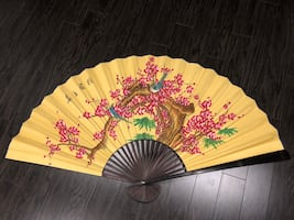 Large Cherry Blossom Wall Fan