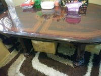Table just has few scratches but solid wood  Toronto, M3N 1J9
