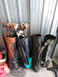 Golf clubs and 4 golf bags  Pinellas Park