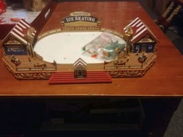 Christmas village rink with power cord