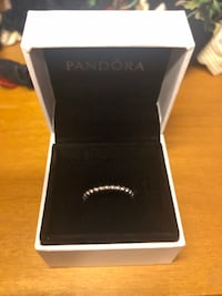 silver and black Pandora ring in box Vaughan, L4L 9J2