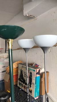 Three floor lamps. Two white and one green. Good condition. Price $12 each. Mission Viejo, 92692