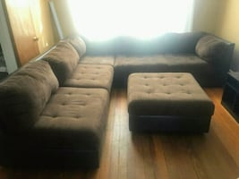 Sofa- 6 piece sectional with ottoman