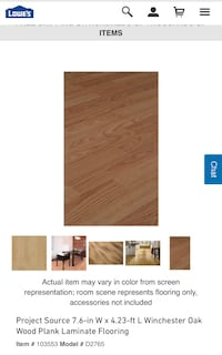 Project Source Winchester Oak Wood Plank Laminate Flooring