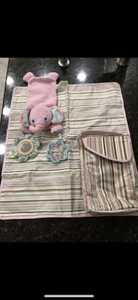 Changing pad with holder and car seat toy smoke and pet free  Berkley, 02779