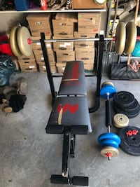 Black and red bench press et poids 769 km