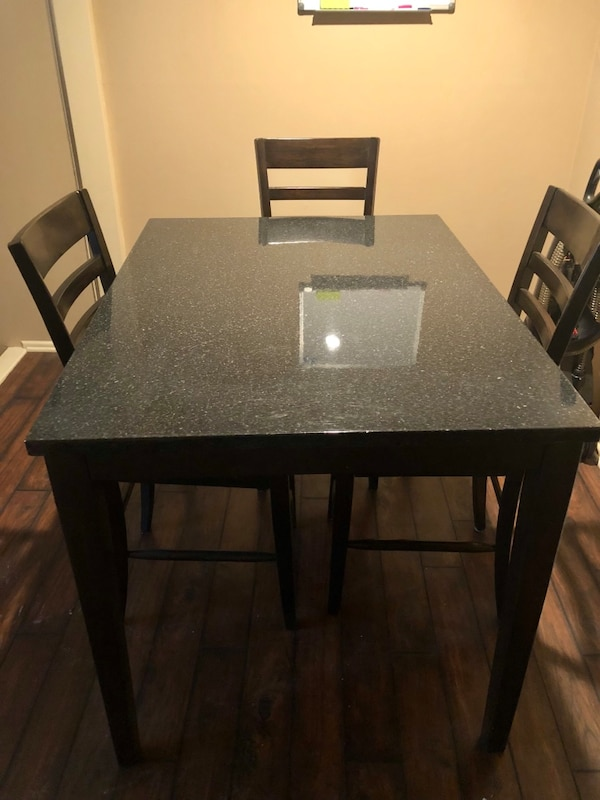 Dining Room Chairs Kansas City used counter height table and 3 chairs for sale in kansas city - letgo
