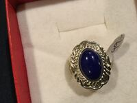 Native American Sterling Silver & Lapis Ring 2065 mi