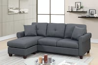 Leta Charcoal Polyfiber Sectional ** FREE DELIVERY** FINANCING