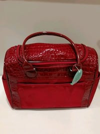 red leather 2-way bag Frederick