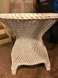 VINTAGE RATTAN WICKER WOVEN DINING TABLE BASE