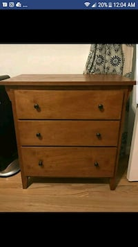 3-drawer, solid wood nightstand Arlington, 22204