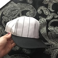 black and white fitted cap Toronto, M6A