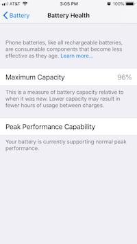 iPhone 6S Unlocked New Battery replaced by Apple Store Homestead, 33033