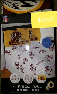 Redskins sheet set full size
