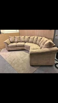 Free delivery! Tan microfiber sectional  Denver, 80231
