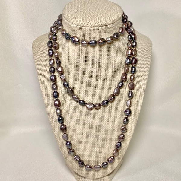 Genuine Grey Baroque Pearl Necklace f9afb9aa-9832-4617-9ded-daa06e658a1a
