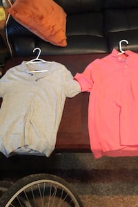 Grey Zara Polo, Salmon Tommy Polo Medium $10 each  Toronto, M9N 3L4