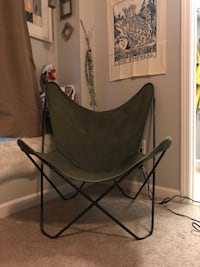 black and gray metal frame chair