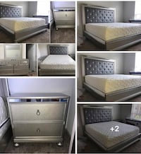 Queen size 4 piece bedroom set delivered and assembled!! .. $950