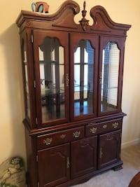 brown wooden china cabinet with cabinet Washington, 20010