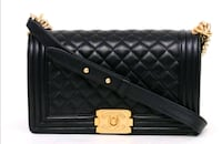black bag leather chanel leboy classic Toronto, M5S 2E4