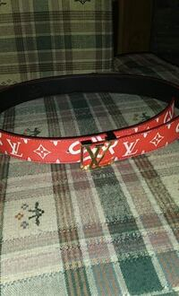 red and black leather belt Telford