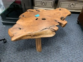 New Solid Wood Abstract Wood Work Artistic Coffee Table