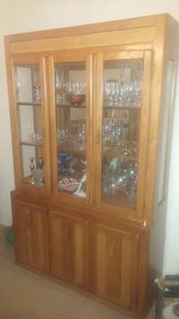 Quick Sale!! Top Section Wood China Cabinet Washington, 20011
