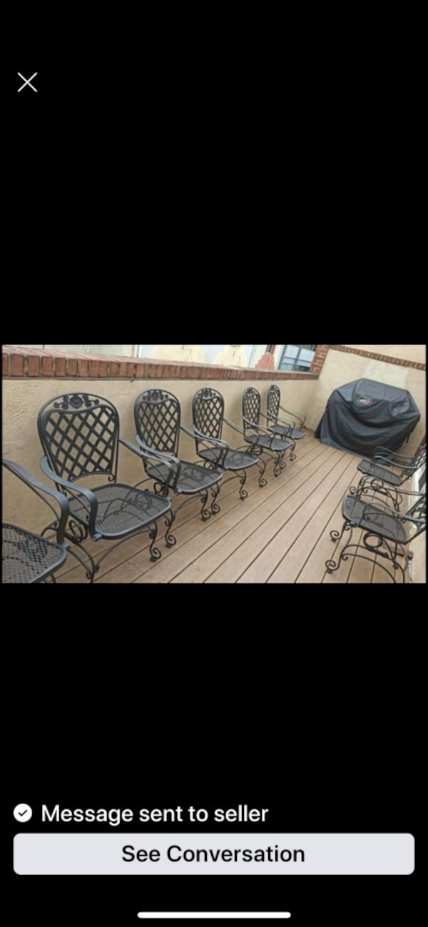 Woodward Wrought Iron Rocking Dining Chairs-only 2 left (1 pair) a28b0f4a-7318-4e7c-8c05-15bf7c964382