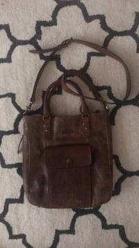 brown leather 2-way handbag 2344 mi