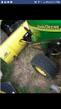 John Deere L108 with bagger attachment and plow 140 mi