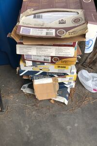 Lot of self sticking flooring tiles