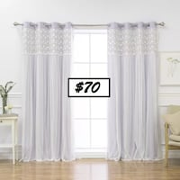 AJ- BRAND NEW- Jacksonburg Lace Overlay Nature/Floral Blackout Thermal Grommet Curtain Panels Mississauga