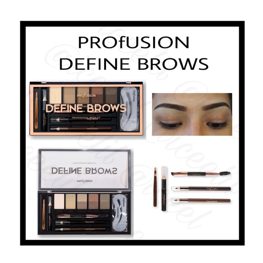 PROfUSION DEFINE BROWS The Artistry Palette 11 piece Set..New In Box