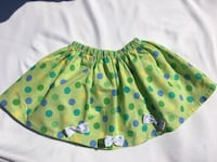Unique hand maid green skirt with blue/green poco dots and white details  Skokie, 60077